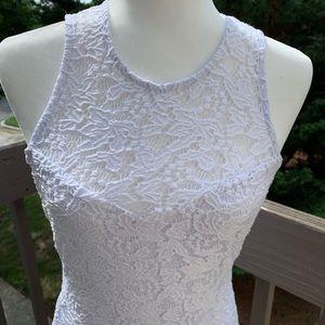 BONGO SZ Medium White Lace overlay Tank Dress